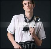 廚師服短袖夏季酒店飯店廚房餐飲廚師工作服男白色透氣薄款棉LG-881950