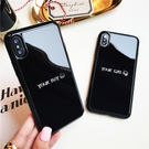 【紅荳屋】iPhoneX潮情侶鏡面手機殼 新款iphoneX手機保護套