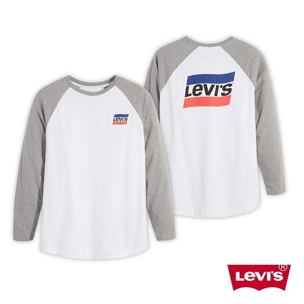 Levis 男款 長袖T恤 / 復古運動風Logo / More Than Medals 系列 / 白