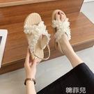 平底涼鞋 小眾設計爆款涼鞋女仙女風ins潮新款夏季平底大學生羅馬鞋 韓菲兒