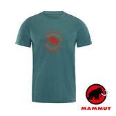 【MAMMUT 長毛象】Mammut Garantie 男 短袖 圓領印花T恤『松綠』1041-07970 短袖透氣運動服
