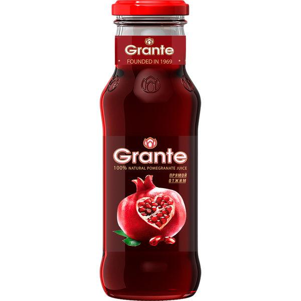 格朗特100%純天然紅石榴汁(250ML/1入)~非濃縮果汁,無添加物,含豐富維他命C~ (4瓶一組免運)