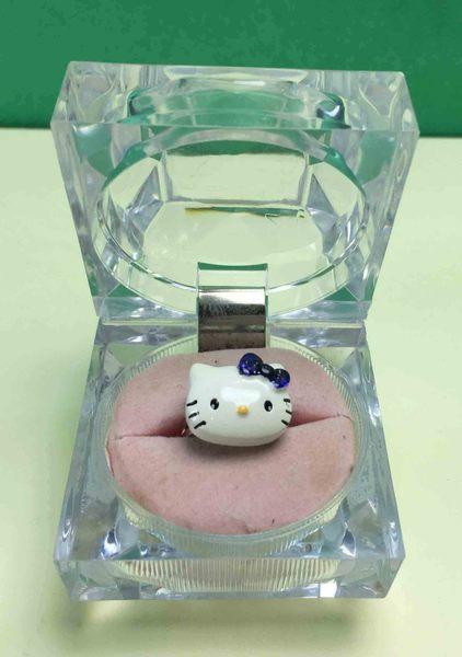 【震撼精品百貨】Hello Kitty 凱蒂貓~造型戒指-藍