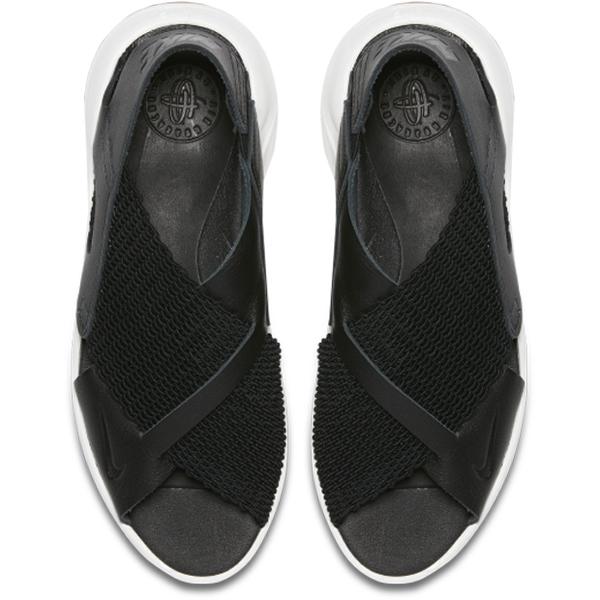 NIKE Air Huarache Ultra 女鞋 涼鞋 休閒 武士鞋 皮革 梭織 黑【運動世界】885118-001
