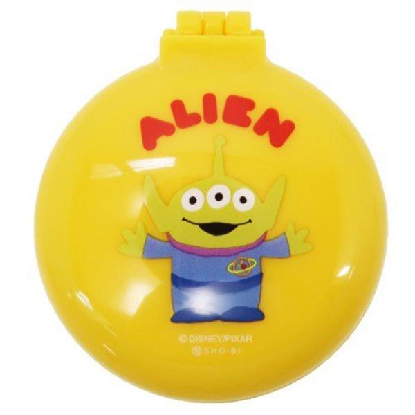 SHO-BI 圓形掀蓋氣墊隨身鏡梳組 鏡子 梳子 迪士尼 三眼怪 高興 黃_SB19298