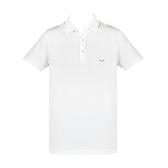 【南紡購物中心】ARMANI JEANS 貼標LOGO短袖POLO衫-白