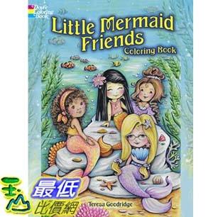 暢銷畫冊書 Little Mermaid Friends Coloring Book (Dover Coloring Books) Paperback