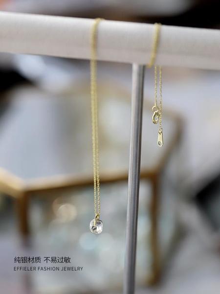 s925純銀鋯石鎖骨鏈網紅項鏈女士韓國簡約個性小眾設計森系氣質潮1入