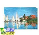 [COSCO代購] W121472 莫內-亞爾嘉杜的帆影松木框油畫 60x90CM