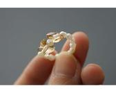 【喨喨飾品】珍珠戒指。橘S443