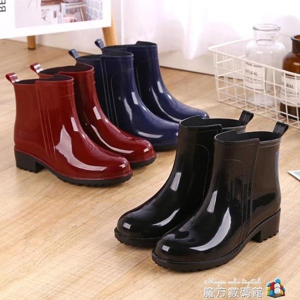 雨鞋女短筒韓國可愛成人膠鞋時尚款外穿水鞋雨靴防水套鞋保暖 時尚