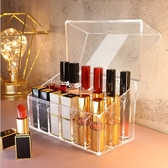 化妝品整理收納盒帶蓋口紅收納盒多格防塵【雲木雜貨】