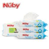 Nuby 全棉柔濕巾(80抽)-單包入[衛立兒生活館]
