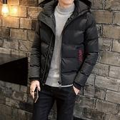 夾克外套-連帽純色休閒百搭時尚夾棉男外套3色73qa6【時尚巴黎】