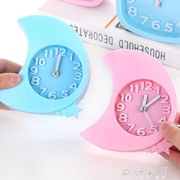 創意兒童鬧鐘床頭座鐘臺鐘個性時鐘   歐韓時代