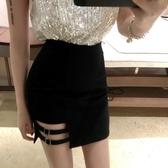 設計感緊身a字包臀短裙