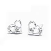 耳環 925純銀鑲鑽銀飾-愛心素雅生日情人節禮物女飾品73dy119【時尚巴黎】