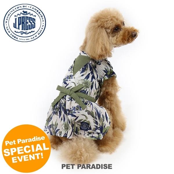 【PET PARADISE 寵物精品】JPRESS 夏日樹葉棉麻洋裝 (3S/DSS) 寵物用品 寵物衣服《SALE》