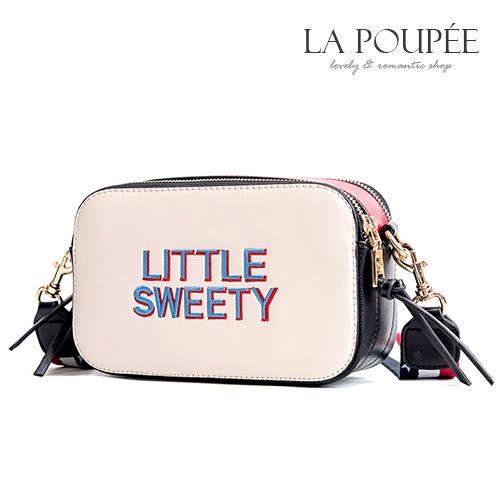 側背包 美式繽紛撞色小方包 4色 -La Poupee樂芙比質感包飾 (現貨+預購)