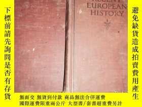 二手書博民逛書店A罕見GENERAL HISTORY OF EUROPE QART II RECENT EUROPEAN HIST