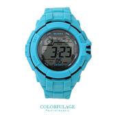 JAGA捷卡 藍色休閒運動多功能電子錶手錶 輕量無負擔 防水100米 柒彩年代【NE1303】原廠公司貨