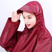 新館開業85折 雨衣單人女成人電動自行車摩托騎行徒步韓國時尚雨披加大加厚防水