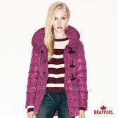 BRAPPERS 女款 女用牛角釦羽絨外套-紫紅