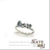 銀飾純銀戒指 潘朵拉經典款 鑲鑽LOVE 閃亮秀氣 925純銀寶石戒指 # 9.5 KATE 銀飾