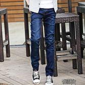 夏季牛仔褲男韓版潮流修身直筒褲子男士青年寬鬆春夏長褲3533【街頭布衣 】