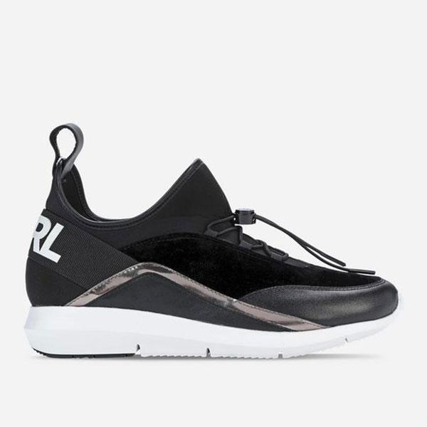 Karl Lagerfeld 卡爾 老佛爺 鞋 VITESSE 襪套流線休閒鞋-黑