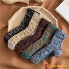 復古花邊堆堆襪女秋冬純棉中筒襪日系jk蕾絲長筒襪【小獅子】