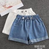 女童短褲夏季白色2020新款兒童洋氣中大童牛仔褲外穿女孩褲子夏裝