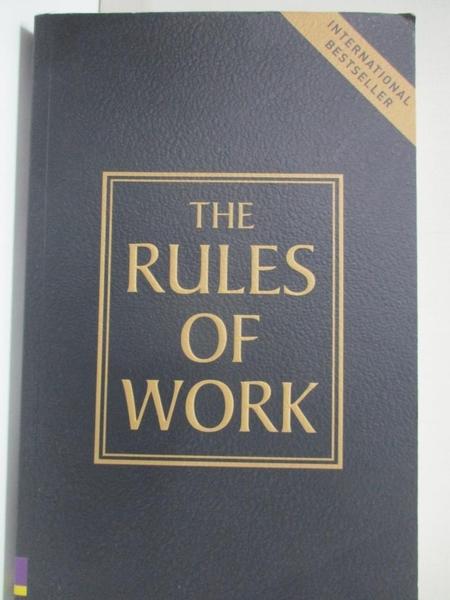 【書寶二手書T7/勵志_HF8】The Rules of Work: A Definitive Code for Personal Success_Templar, Richard