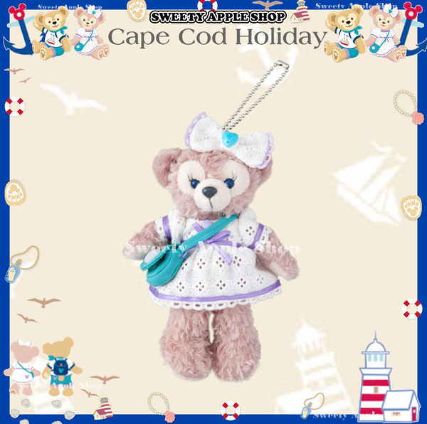 (現貨&樂園實拍)  東京迪士尼限定  達菲家族 雪莉玫 Cape Cod Holiday系列  別針珠鏈玩偶吊飾