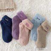 加厚襪 襪子女冬季加絨加厚羊毛保暖中筒襪純棉可愛毛襪冬天超厚毛巾女襪 歐萊爾藝術館