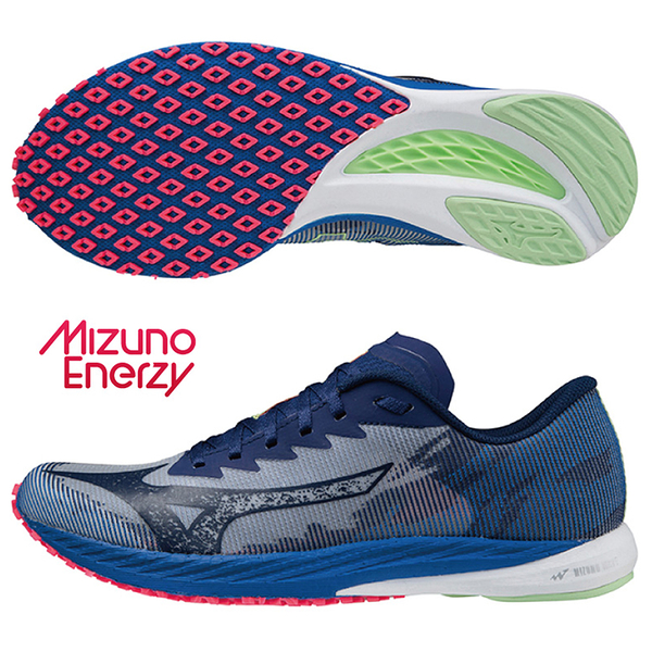 MIZUNO WAVE DUEL 3 男鞋 慢跑 U4ic G3大底 避震 藍【運動世界】U1GD216025