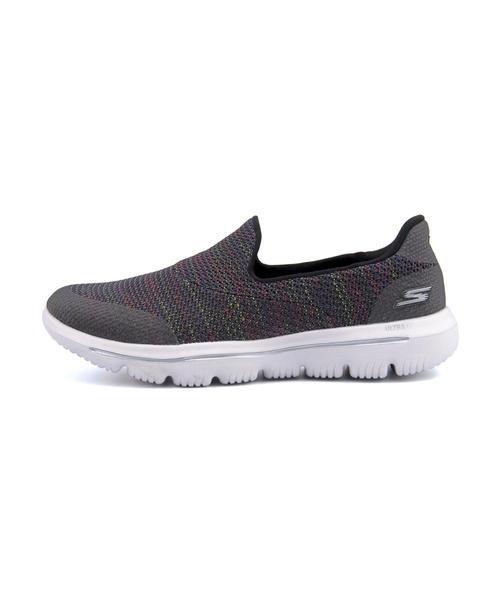 SKECHERS GO WALK EVOLUTION ULTRA GRADDEN 女款灰色休閒鞋-NO.15758BKMT