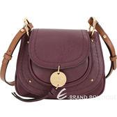 SEE BY CHLOE Susie 小型 馬蹄型牛皮斜背包(紫紅) 1720011-87