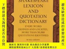 二手書博民逛書店【英文原版全兩卷】Shakespeare罕見Lexicon An