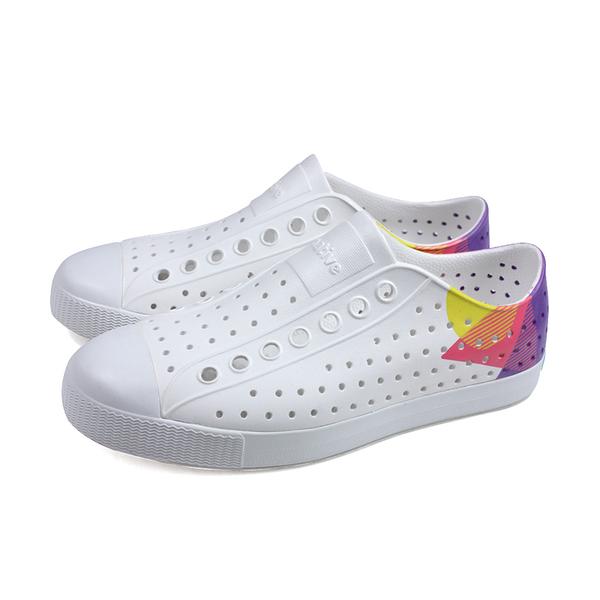 native 休閒鞋 洞洞鞋 白/紫 男女鞋 11100102-8942 no095