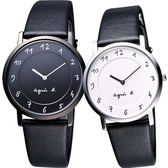 agnes b. 法國時尚簡約風情對錶/情侶手錶 7N00-0BC0S+7N00-0BC0D(BG4001P1+BG4002P1)