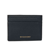 【BURBERRY】House格紋與粒面皮革卡片夾(霓彩藍)4039744