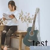 吉他38寸吉他民謠吉他木吉他初學者入門學生男女款樂器YYJ 育心小賣館