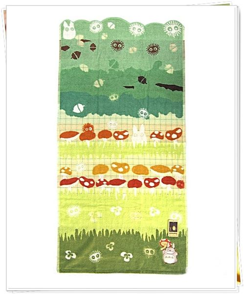 トトロ・バススタオル日本正版 TOTORO 龍貓  香菇 毛巾被 冷氣被 大浴巾 60*120公分 奶爸商城 572902