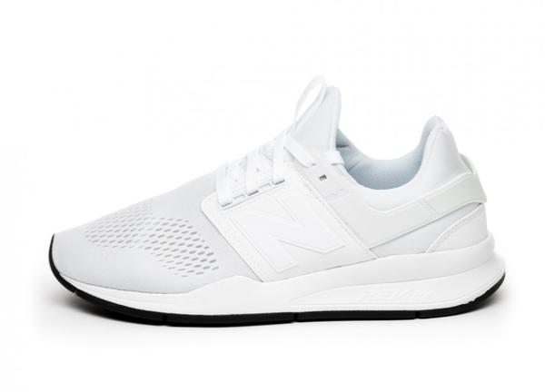 NEW BALANCE NB247系列  慢跑鞋網布襪套全白男女尺寸 NO.MS247EW
