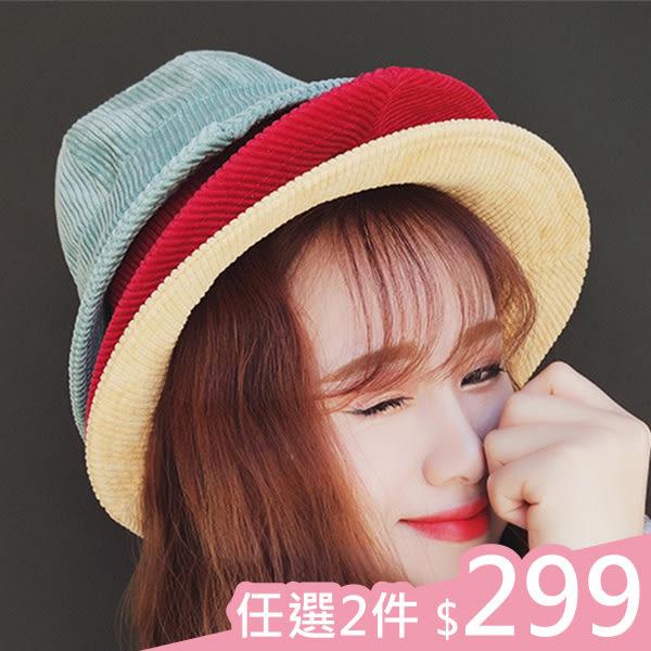 現貨-2件299元-漁夫帽-情侶百搭純色燈芯絨漁夫帽 Kiwi Shop奇異果0418【SWG2831】