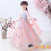 女童漢服中國風秋冬襦裙兒童古裝連身裙裙子【淘嘟嘟】