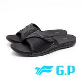 G.P 舒適PLUS可調套式拖鞋 男鞋 - 黑(另有藍)