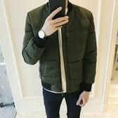 夾克外套-棒球領冬季時尚保暖舒適夾棉男外套2色73qa39【時尚巴黎】