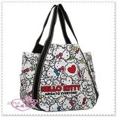 ♥小花花日本精品♥Hello Kitty x AMONNLISA 40周年手提包帆布包托特包肩背包/側背包42057305